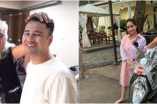 7 Momen Gideon Tengker berkunjung ke rumah Nagita Slavina, jajal motor