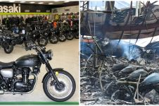 8 Potret sebelum dan sesudah kebakaran dealer Kawasaki
