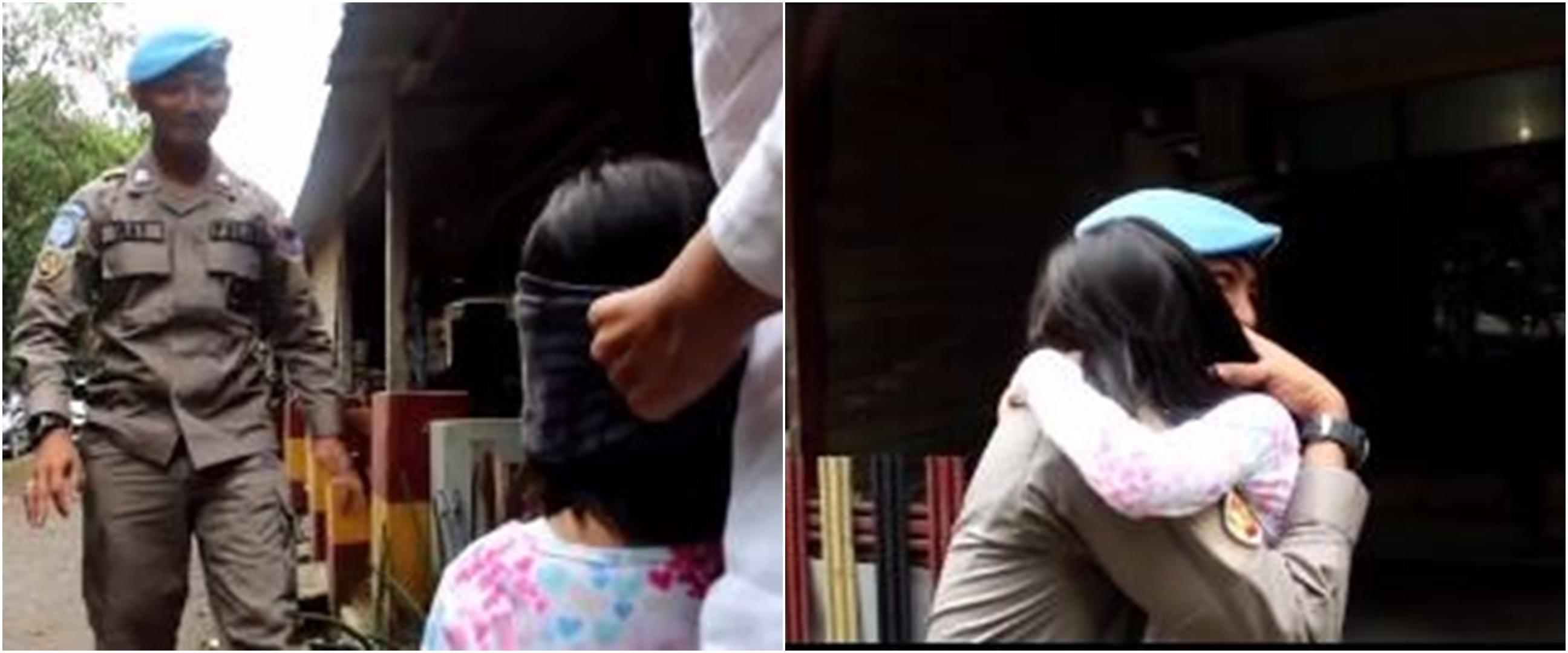 Pertemuan haru anak dan ayahnya yang lama pergi karena tugas negara