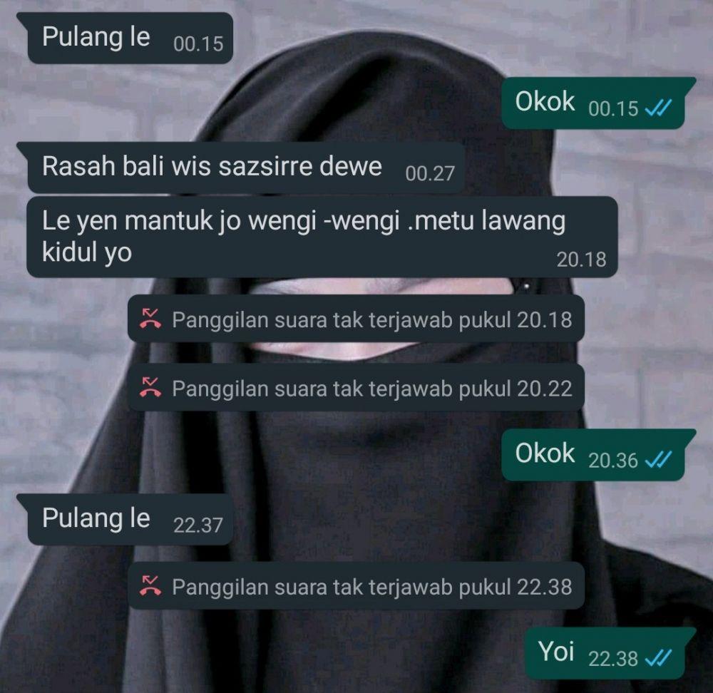 Chat emak suruh anaknya pulang Twitter