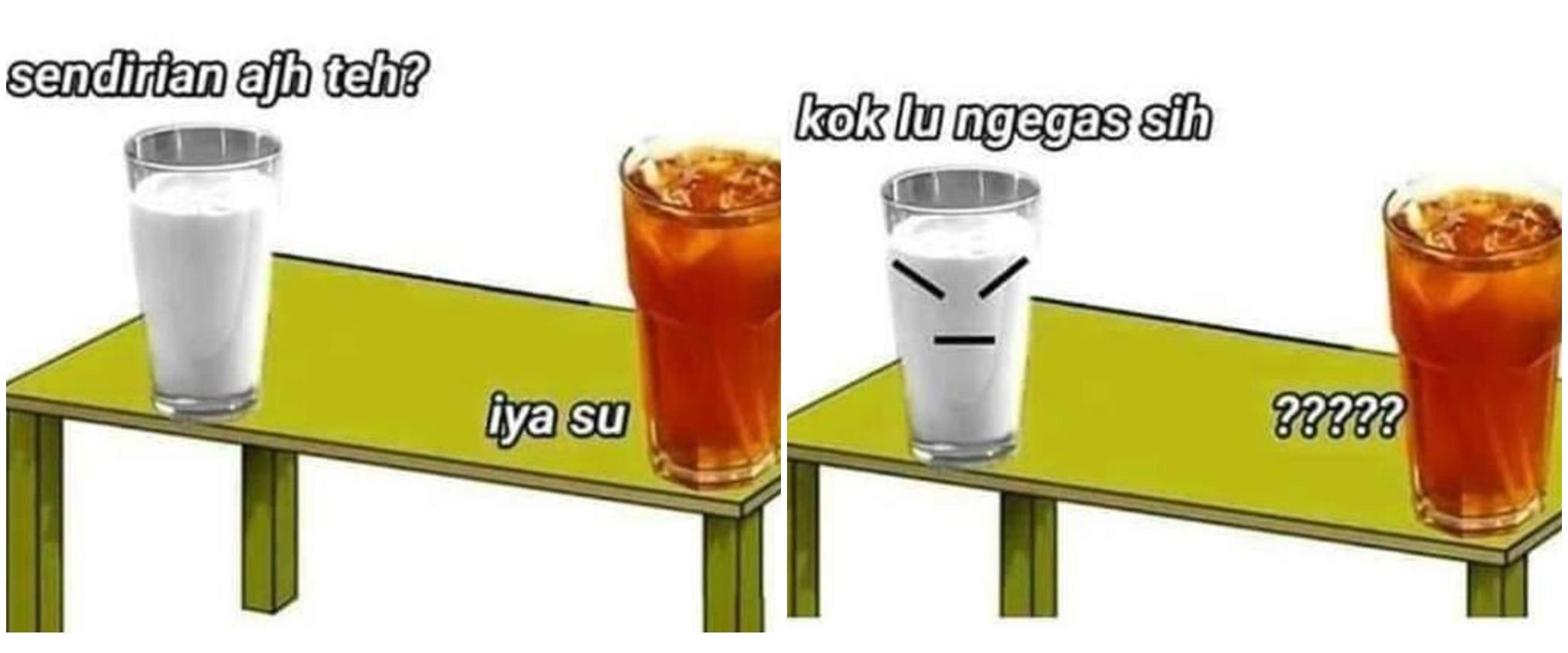 10 Meme minuman teh ini bikin dahi berkerut