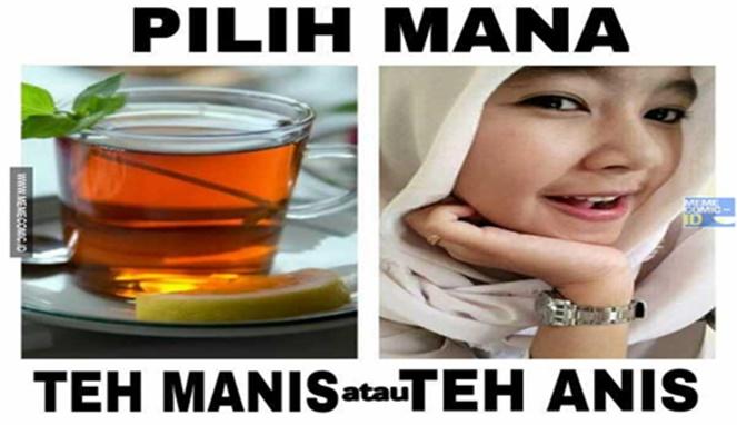 Meme minuman teh Berbagai sumber