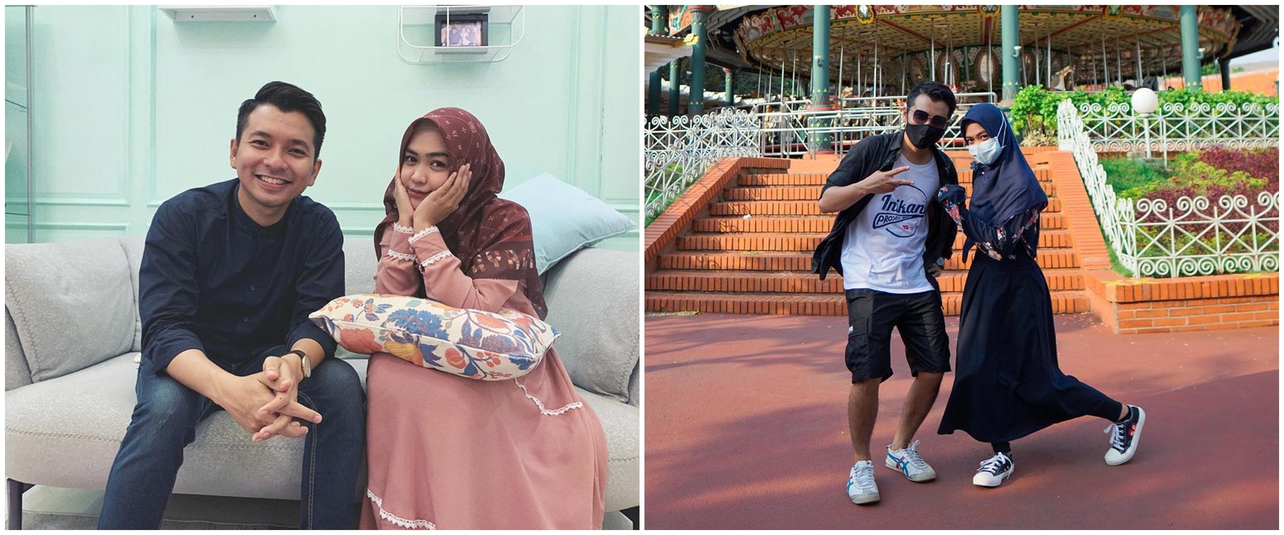 9 Potret kedekatan Ria Ricis & Reza Surya Putra, saling lempar rayuan