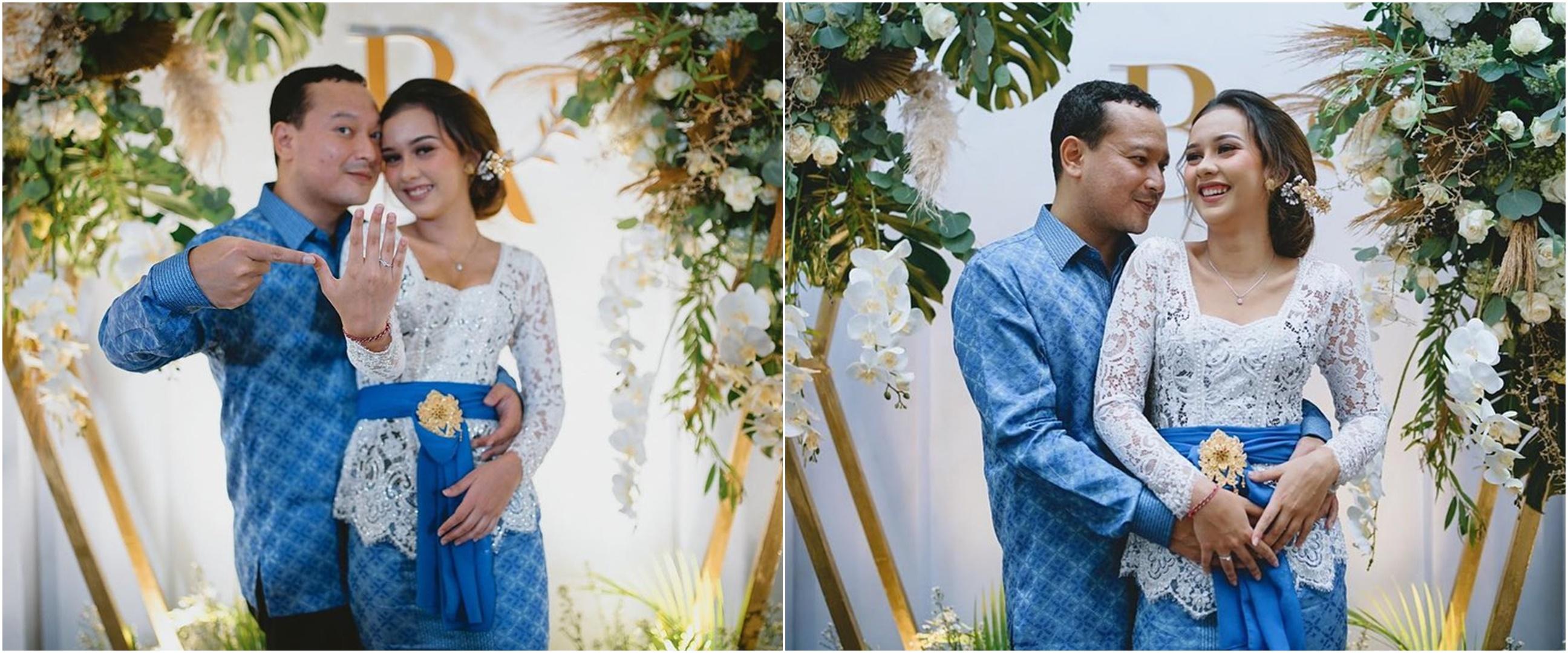 10 Potret pertunangan Banyu Biru dengan Anastasia Adamova, romantis