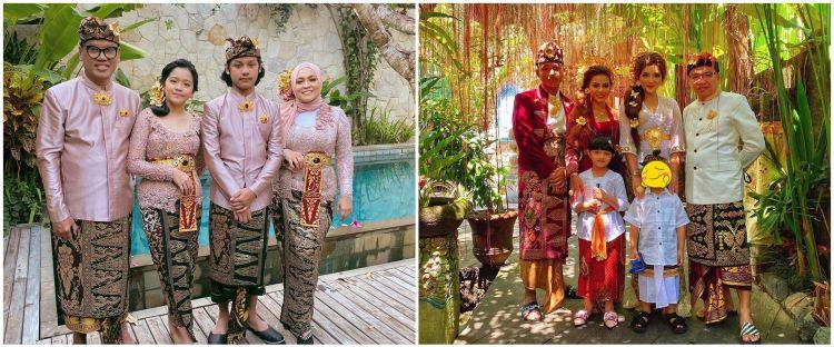Beda gaya 10 keluarga seleb pakai busana adat Bali, curi perhatian