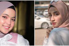 10 Beda gaya fashion hijab Putri Isnari eks Ridho DA & Shania Indriani