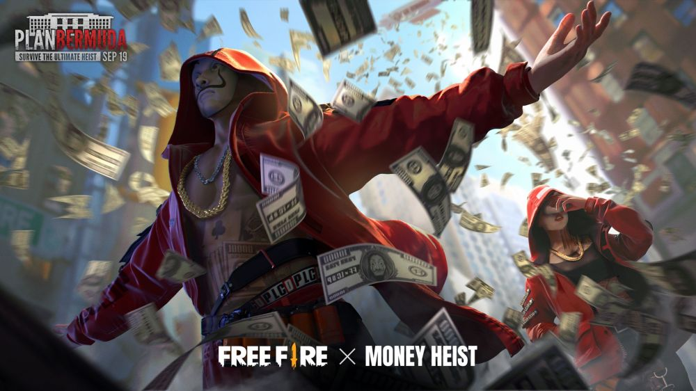 Free Fire x Money Heist © 2020 brilio.net