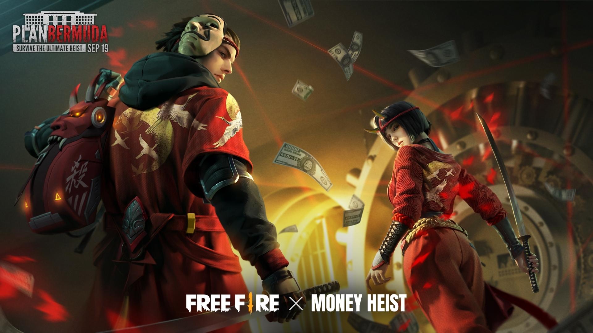 5 Fakta Free Fire x Money Heist, keseruan rencana besar The Professor