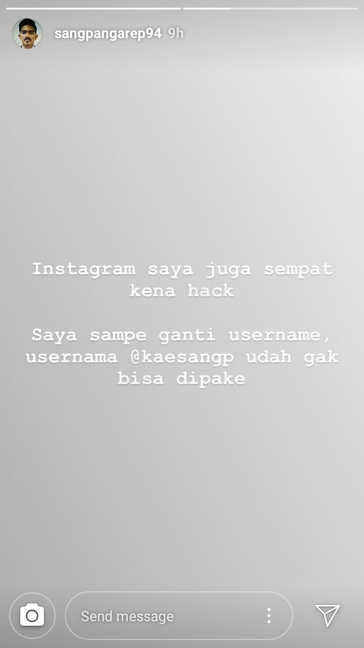 seleb yang akun instagramnya hilang Berbagai Sumber