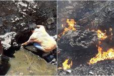 4 Fakta viralnya penemuan air kali mengandung minyak di Sumba Tengah