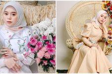 10 Gaya Lesty Kejora pemotretan tema bunga-bunga, bikin gagal fokus