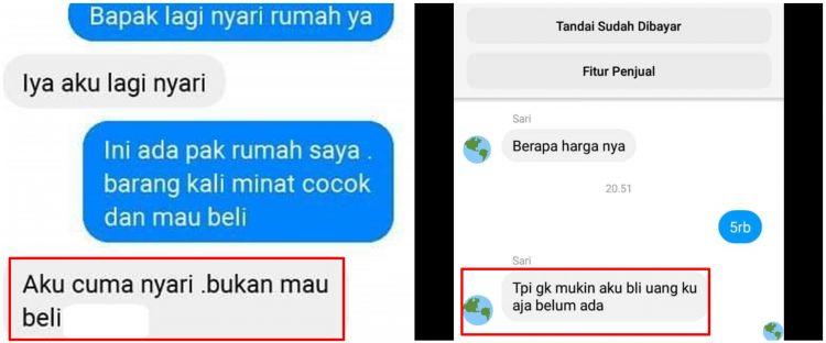10 Chat customer nggak niat beli ini lucunya bikin penjual kesal