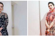 10 Adu gaya Nagita Slavina dan Ayu Ting Ting saat kenakan dress