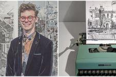 10 Ilustrasi ini dibuat pakai mesin ketik tua, detailnya mengagumkan