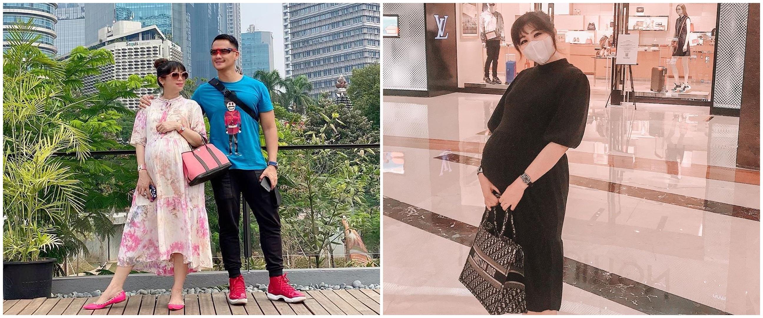 10 Pesona Chaca istri Choky Sitohang saat hamil anak ketiga, stylish