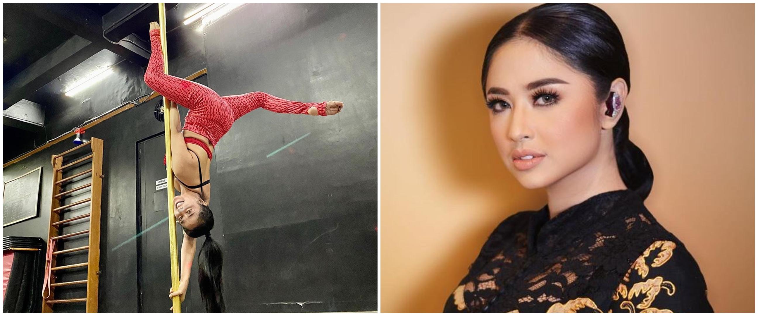 10 Aksi Dewi Perssik saat pole dance, gerakannya curi perhatian