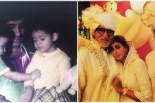 10 Potret kebersamaan Amitabh Bachchan & anak dari dulu hingga kini