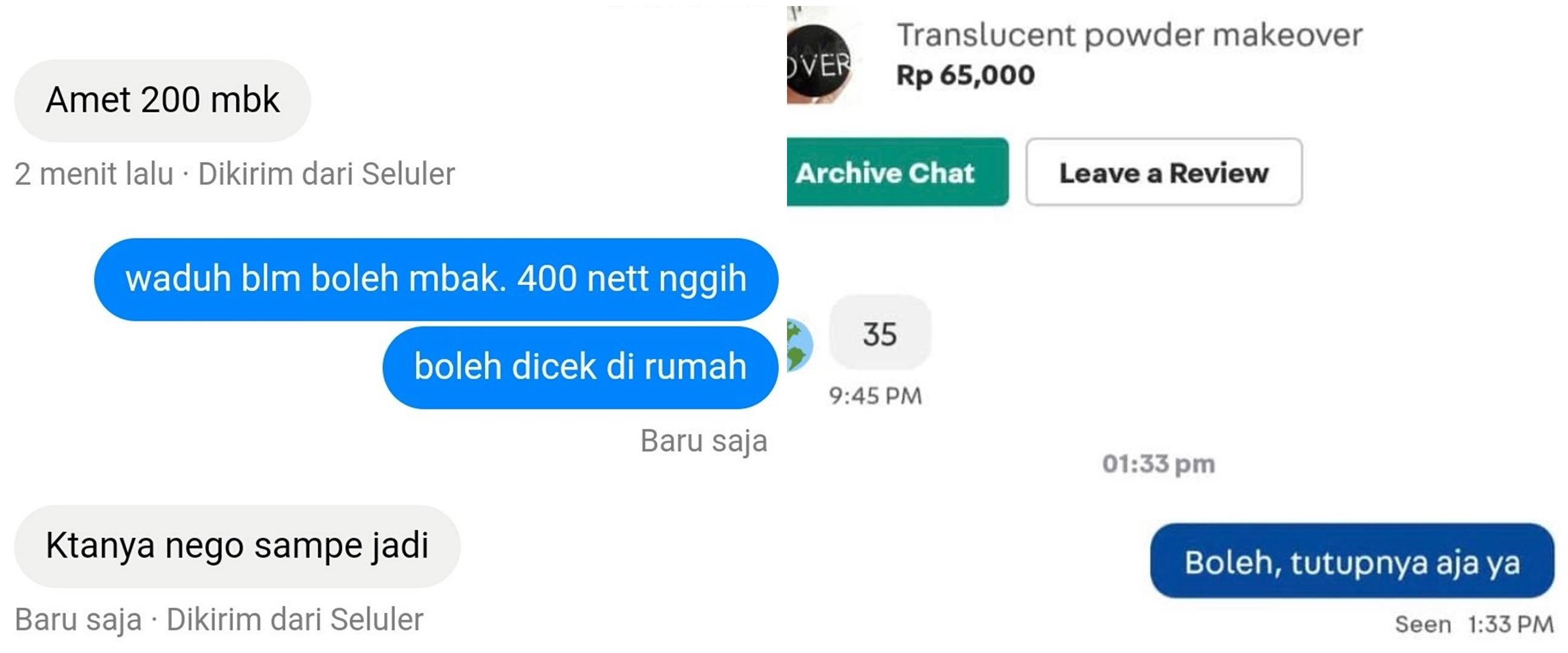 10 Chat pembeli saat tawar barang di olshop, bikin ketawa kesal