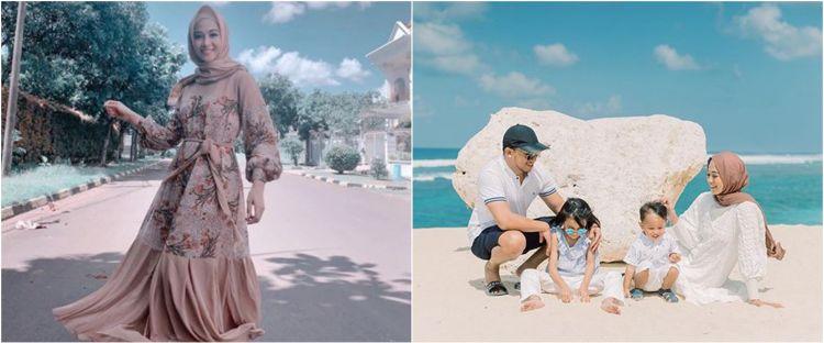 8 Momen Poppy Bunga & keluarga liburan di Bali, photoshoot di pantai