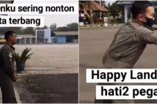 Viral video anggota TNI ajak teman naik helikopter ini endingnya kocak