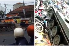Viral tank TNI tabrak gerobak dan empat motor di Bandung Barat