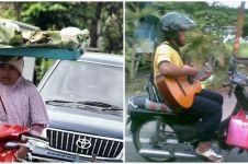 Potret 10 pengendara motor bisa multitasking ini bikin tepuk jidat