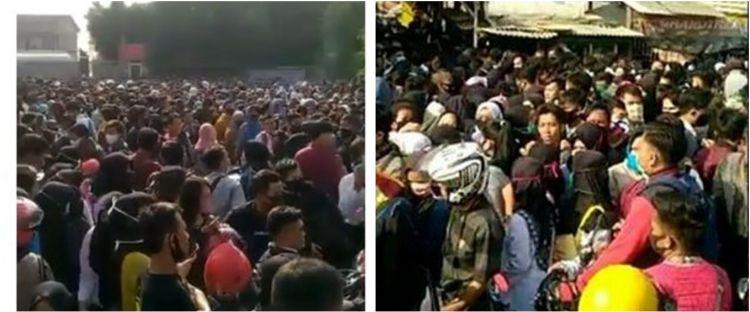 Viral video ribuan pelamar kerja berdesakan di tengah pandemi