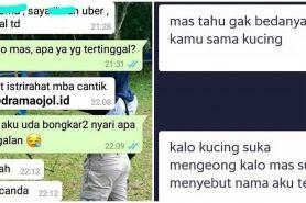 10 Chat gombalan penumpang & driver ojek online ini bikin baper