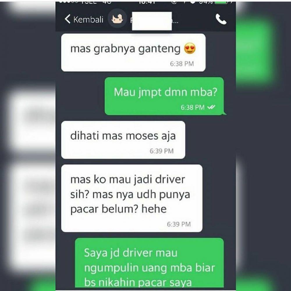 gombalan penumpang driver ojol Instagram