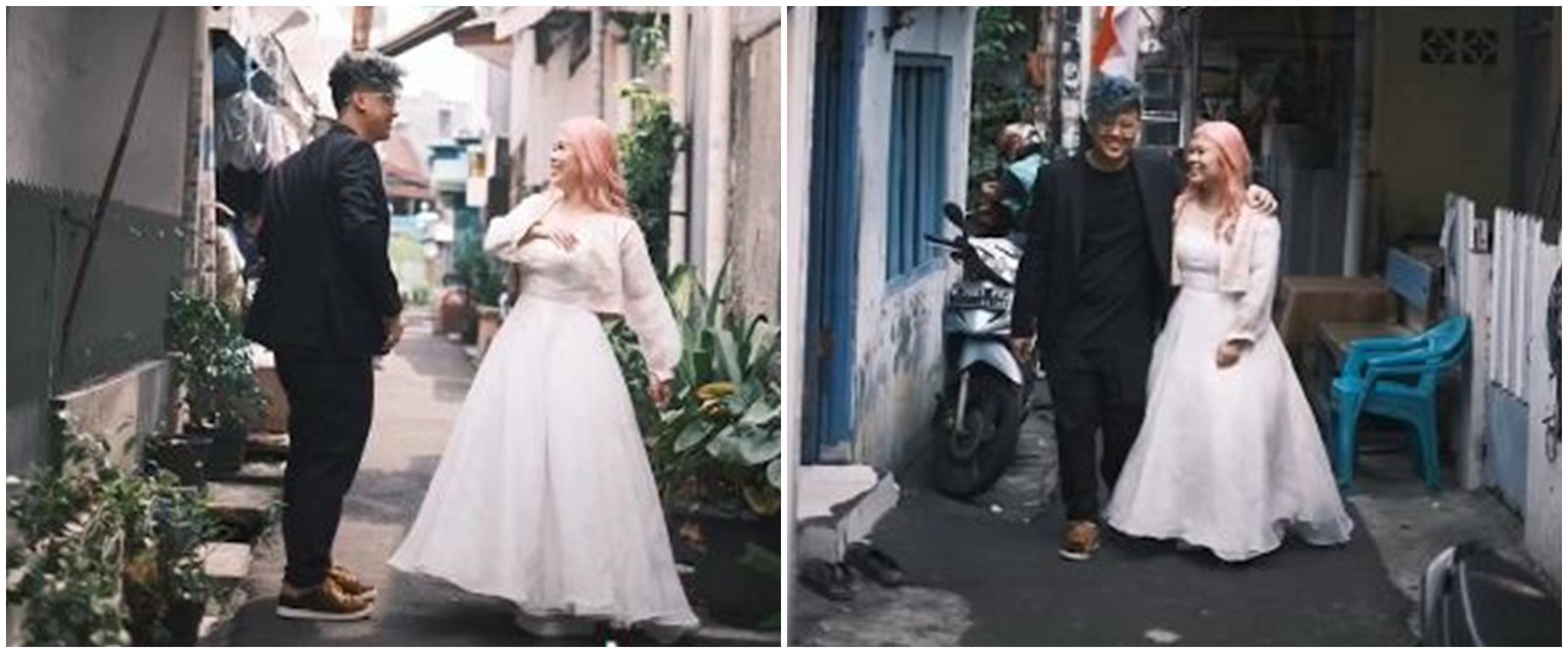 Viral video pasangan foto prewed di gang sempit, alasannya bikin haru