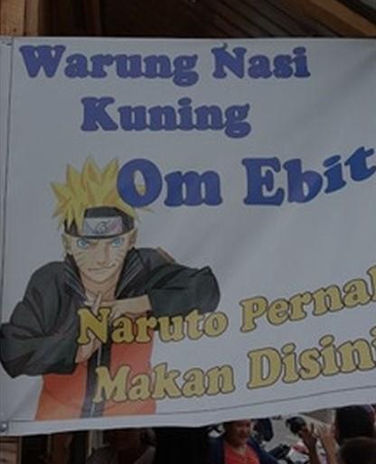 Dagangan pakai nama anime Naruto Berbagai sumber