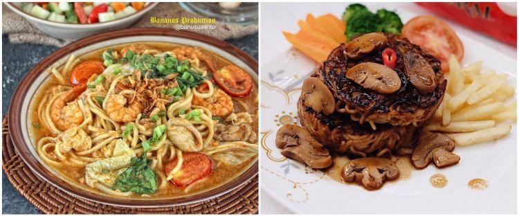 15 Resep masakan rumahan dengan bahan dasar mi, sederhana dan enak