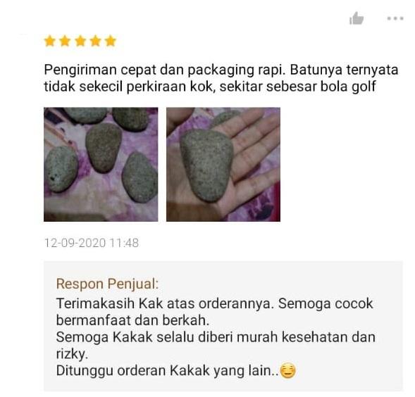 Testimoni beli batu © Twitter