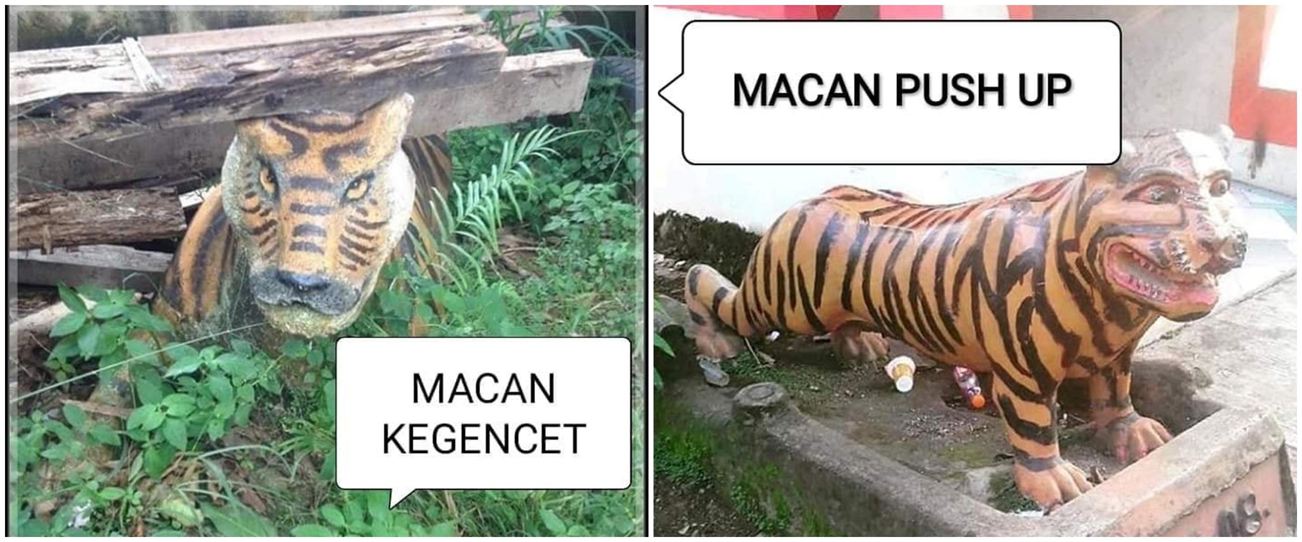 15 Patung macan absurd, bikin tepuk jidat