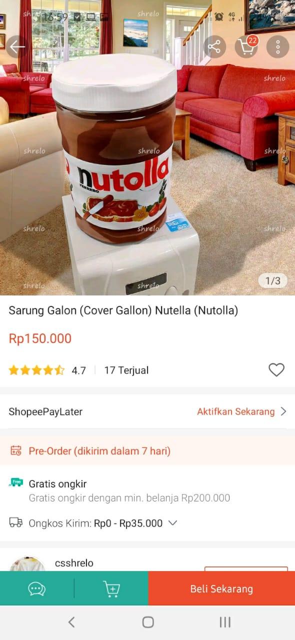 sarung galon di online shop berbagai sumber