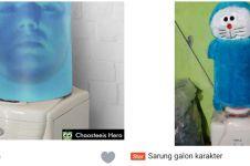 10 Potret jualan sarung galon di online shop, unik tapi lucu juga