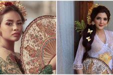 Pesona 15 seleb dalam balutan kebaya Bali, Ashanty curi perhatian