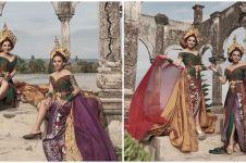 10 Potret Ashanty dan Aurel Hermansyah kenakan kebaya Bali, memesona