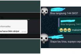10 Chat dari mahasiswa baru, polosnya bikin pengen tepuk jidat