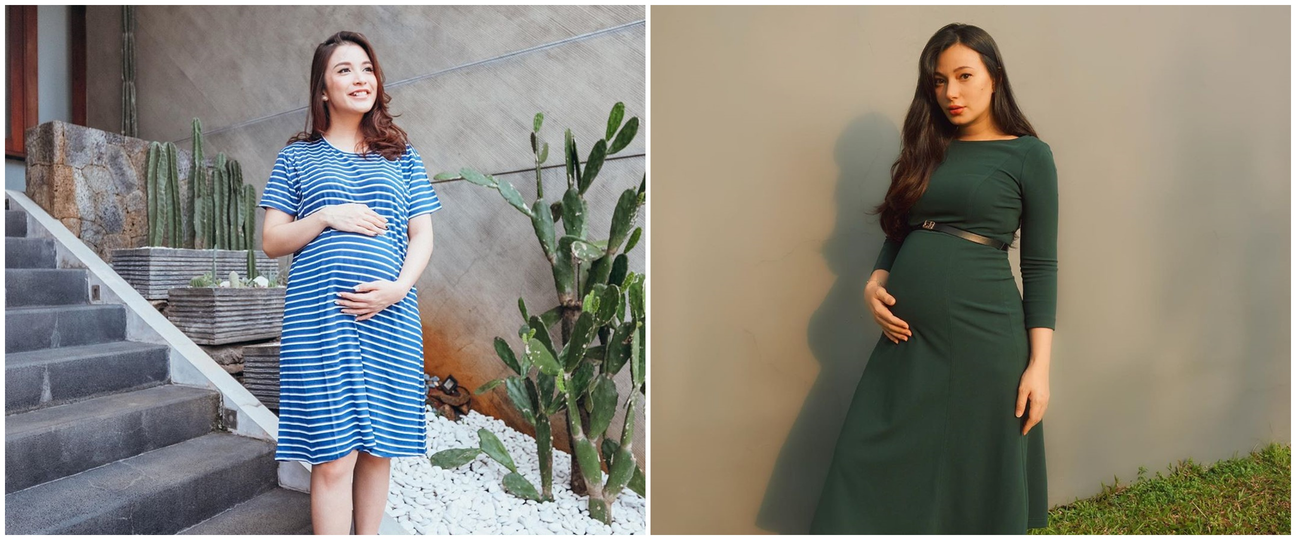 Outfit of the day 10 seleb pamer baby bump, simpel & memesona