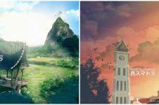 10 Tempat ikonik di Sumatera Barat diedit dalam bentuk anime, keren