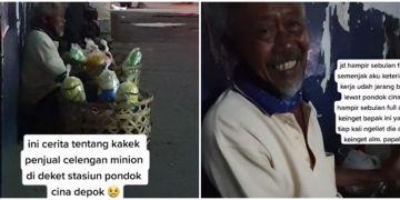 Kisah pilu kakek penjual celengan rela tak makan demi keluarga