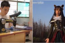 Kisah seorang pria di China jahit 100 gaun sendiri untuk sang anak