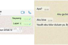 10 Chat lucu ngode ke pacar ini balasannya di luar dugaan