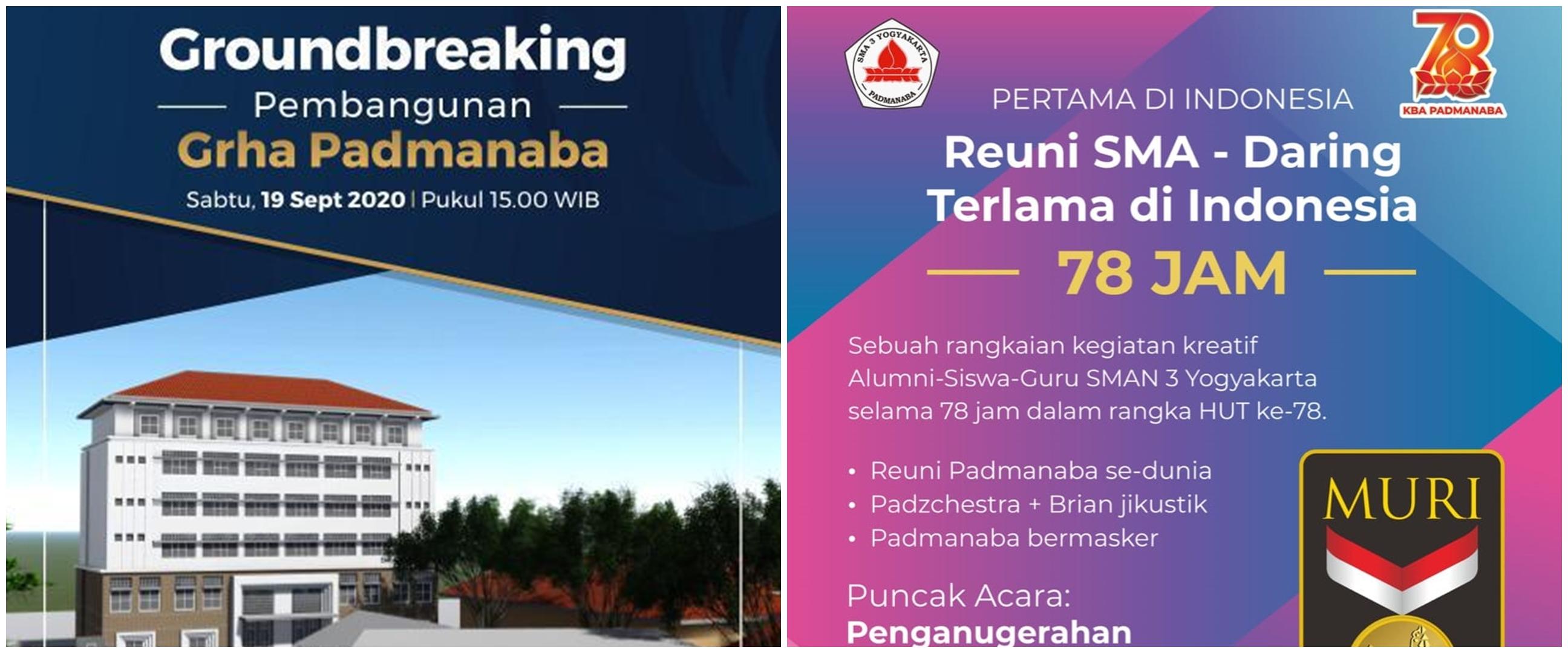 Alumni Padmanaba cetak rekor reuni online terlama di Indonesia
