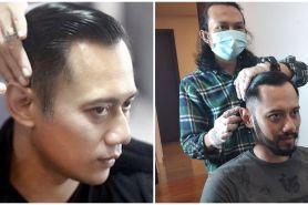 8 Momen Agus Yudhoyono potong rambut, parasnya curi perhatian