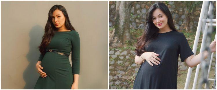 Jarang beli baju hamil, 10 gaya Asmirandah ini simpel tapi stunning