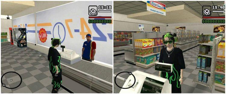 Viral karakter Billie Eilish di game GTA San Andreas, tuai komen receh