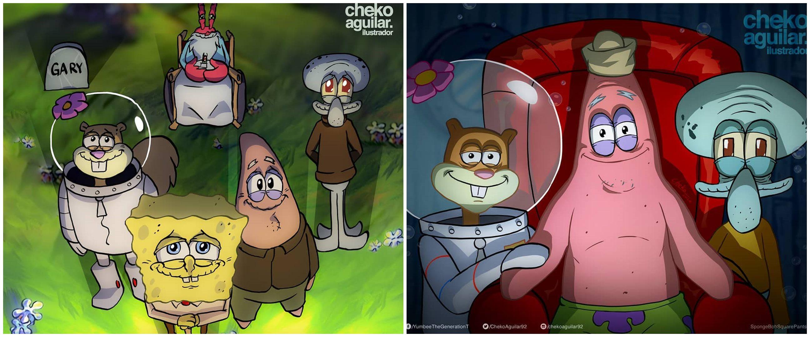 Curhatan imajiner Squidward atas kepergian Spongebob & Patrick, haru