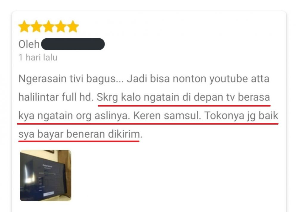 Review barang elektronik Twitter